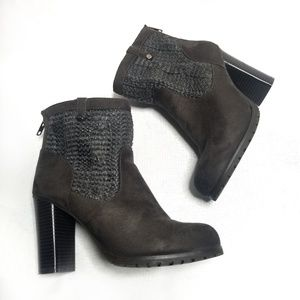 Juicy Couture Boots Size 9 Gray Lupia Grey Ankle